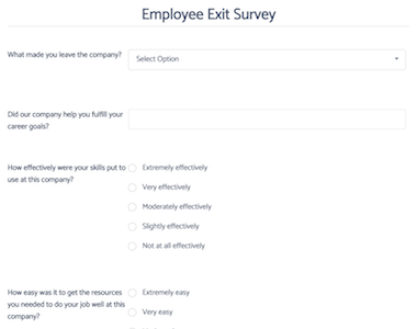 Employment Exit Survey